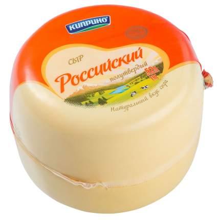 Сыр полутвердый Киприно Российский 50% ~1,5 кг бзмж