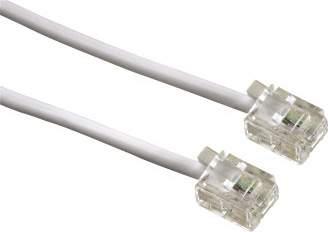 Кабель Hama H-44935 телефонный 6p4c (m-m) 3 м белый