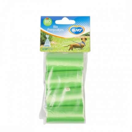 Пакеты для уборки за собакой Duvo+ Био, зеленые, 4 x 20 шт