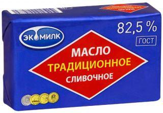 Сливочное масло Экомилк традиционное 82,5 % 180 г бзмж