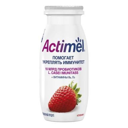 Кисломолочный напиток Actimel клубника 1,5% бзмж 100 г