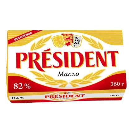 Сливочное масло President 82% бзмж 360 г