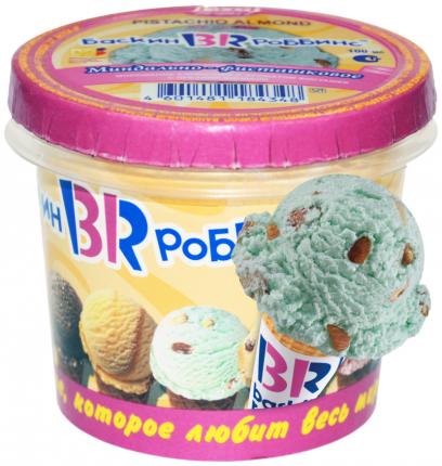 Мороженое сливочное Baskin Robbins миндально-фисташковое с миндалем 60 г бзмж