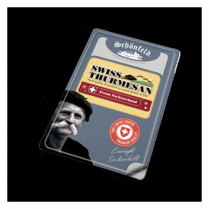 Сыр Schonfeld Swiss Thurmesan нарезка 52% 125 г бзмж