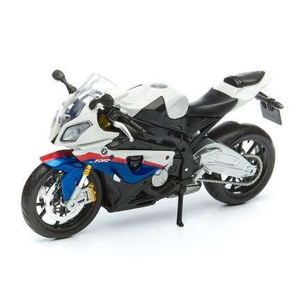 MAISTO мотоцикл 1/12 BMW S 1000 RR, белый-синий, 31101 31101/4