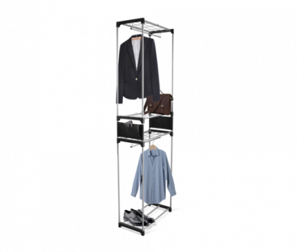 Вешалка гардеробная, 4 полки, 2 штанги, 2 боковых кармана, 60 х 31 х 203 см