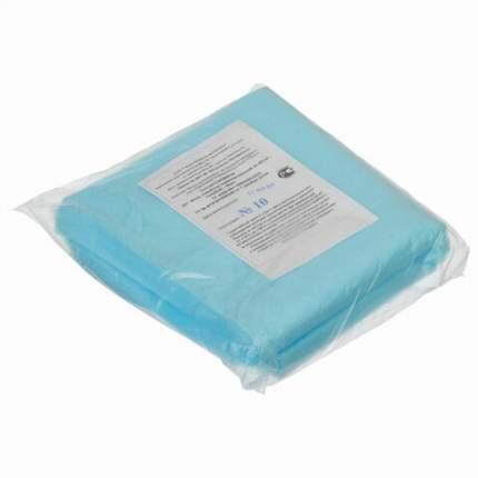 Салфетки одноразовые ГЕКСА нестерильные комплект 50 шт. 40х40 см спанбонд 40 г/м2 голубые
