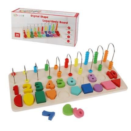 Счетные палочки Наша Игрушка с цифрами и геометрическими фигурками, 20 деталей, коробка