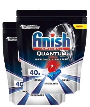 Капсулы для посудомоечной машины Finish Quantum Ultimate, 40шт х 2 упаковки