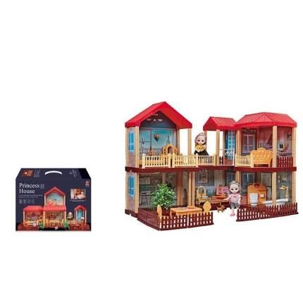 Кукольный дом с мебелью Princess House 668-25,156 деталей