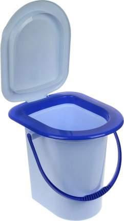 Ведро  туалет 17л. (голубое) М1320