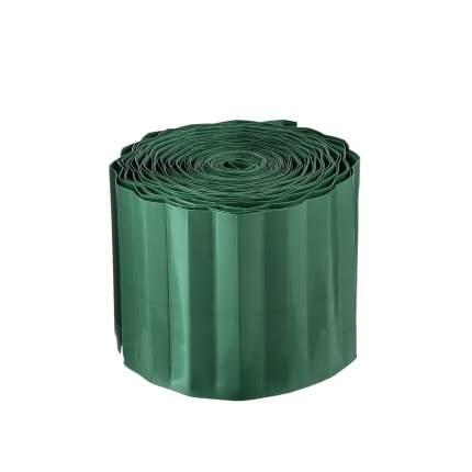 Бордюр  лента гофрированная 9х100 зеленая Д.М.