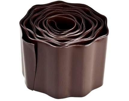 Бордюр  лента гофрированная 9х100 коричневая Д.М.