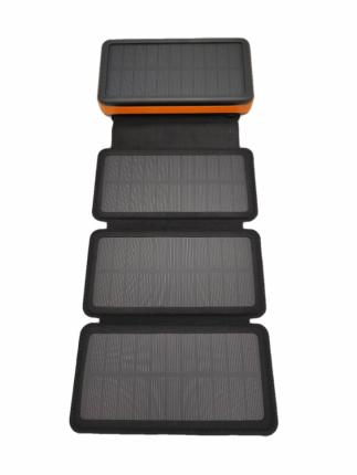 Внешний аккумулятор Power Bank с беспроводной зарядкой и солнечной батареей 25000 мАч