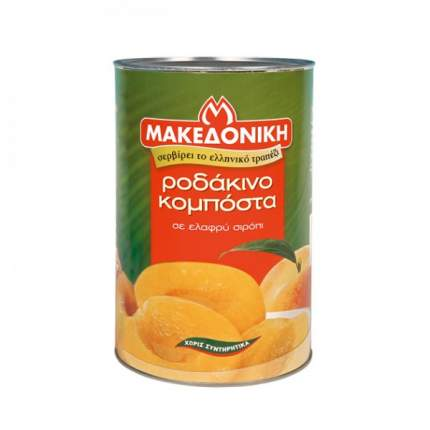 Персики MAKEDONIKI  половинки в сиропе 850г