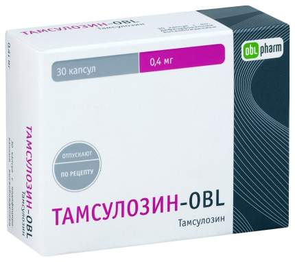 Тамсулозин-OBL капсулы МВ 400мкг №30