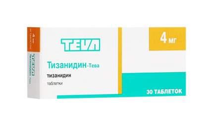 Тизанидин-Тева таблетки 4 мг №30
