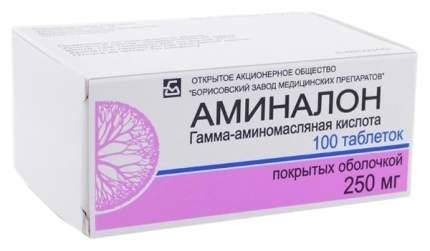 Аминалон таблетки, покрытые оболочкой 250 мг 100 шт.