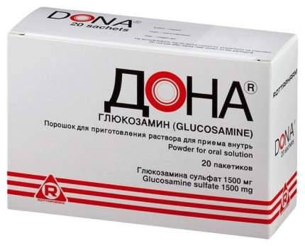 Дона пор. для приг. раствора для приема внутрь 1500 мг №20