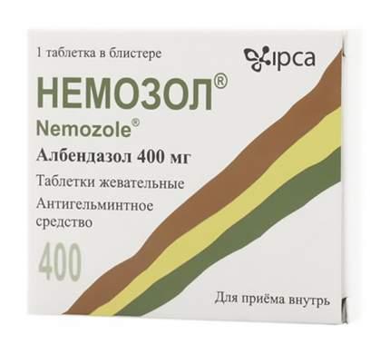 Немозол таблетки жев. 400 мг №1