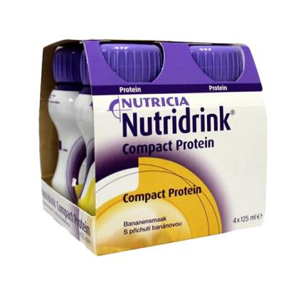 Смесь жидкая Nutricia Нутридринк Compact Protein банан 125 мл 4 шт.