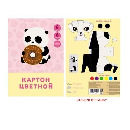 """Цветной картон """"Сладкоежка"""" А4 6 листов 6 цветов Unnika Land ЦК66453"""