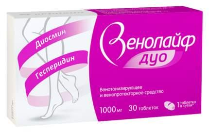 Венолайф Дуо таблетки п.п.о. 1000 мг 30 шт.