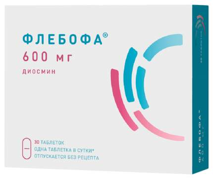 Флебофа таблетки 600 мг №30