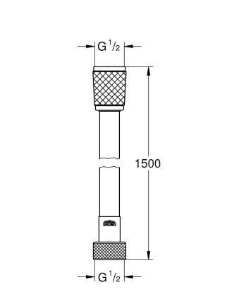 Душевой шланг Relexaflex 1500 мм