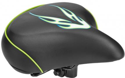 Седло вело VL-80158S, Черный/Зеленый