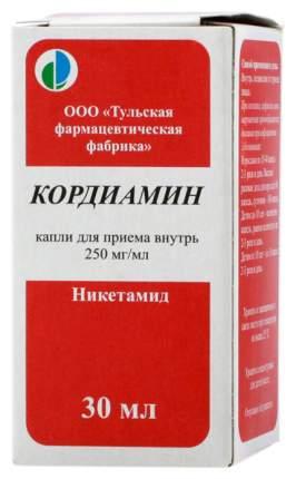 Кордиамин капли для приема внутрь 25% флакон 30 мл №1