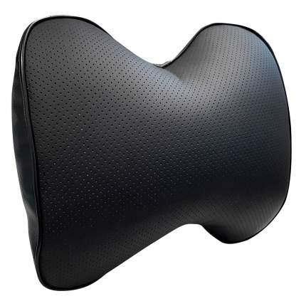 Подушка на подголовник из экокожи, черная ZIPOWER