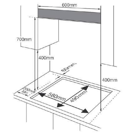 Встраиваемая варочная панель газовая Midea MG696TGW White