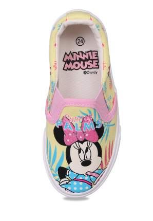 Слипоны детские Minnie Mouse, цв. желтый р.22