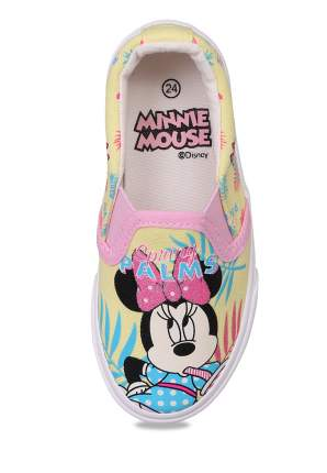 Слипоны детские Minnie Mouse, цв. желтый р.21