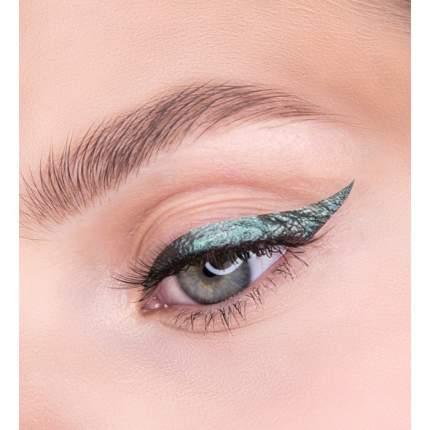 Стойкая цветная Подводка для глаз LUXVISAGE Metal hype тон 4 Indian Emerald