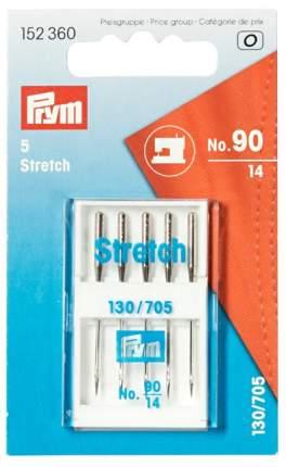Специальные иглы для швейных машин с плоской колбой, №90, Стрейч, 5 штук