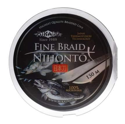 "Шнур плетёный Mikado ""Nihonto Fine Braid Black"" 0,10 мм/150 м"
