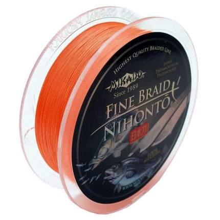 """Шнур плетёный Mikado """"Nihonto Fine Braid Orange"""", 0,12"""