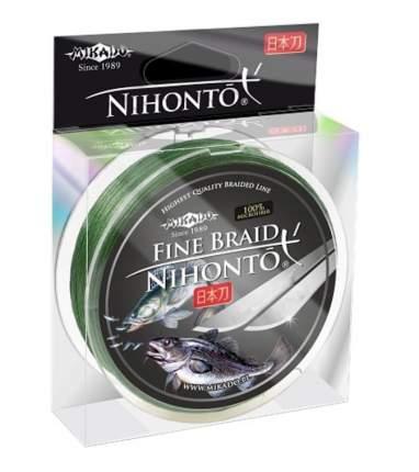 "Шнур плетёный Mikado ""Nihonto Green"" 0,12 мм/150 м"