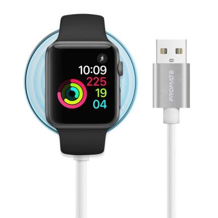 Кабель MFI USB Promate AuraCord-A с магнитным креплением для зарядки Apple Watch 1m white