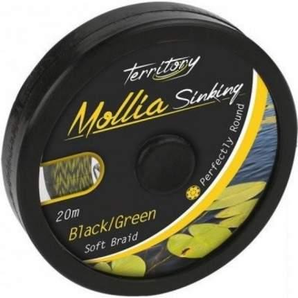 """Поводочный плетеный шнур """"Mikado. Territory Mollia Sinking"""", 45 lb, 20 м, чёрно-коричневый"""