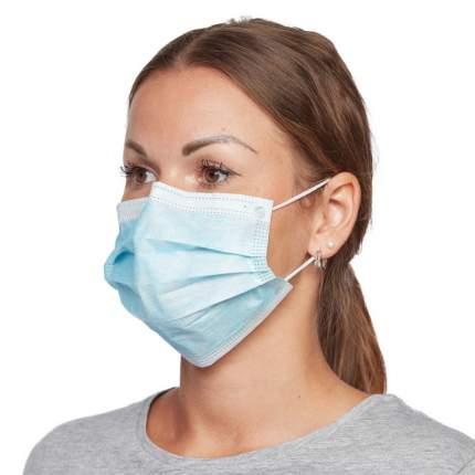 Защитная маска для лица TEWSON, 50 шт. в упаковке голубая
