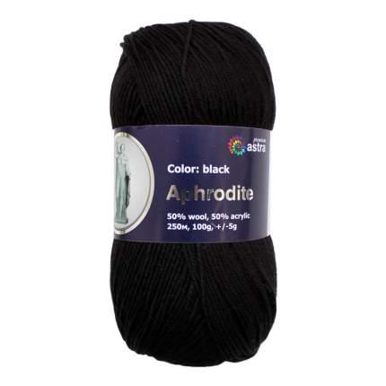 """Пряжа Астра """"Афродита"""", цвет черный (5 мотков) (количество товаров в комплекте: 5)"""
