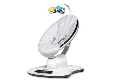 Кресло-качалка 4moms mamaroo 4.0 серебристая