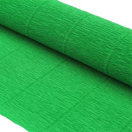 Бумага гофрированная простая 50см*2,5м 140гр 963 зеленая