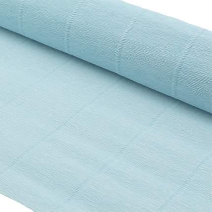 Бумага гофрированная простая 50см*2,5м 140гр 959 нежно-голубая