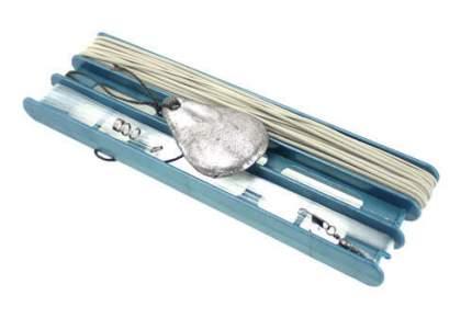 Удочка донная ГРАНТ оснащенная, d 2 мм 10 м., леска, крючки, кольцо заводное