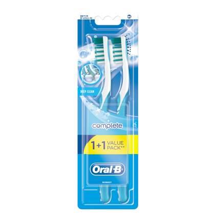 Зубная щетка Oral-B Глубокая Чистка 40 средняя 1 + 1 шт