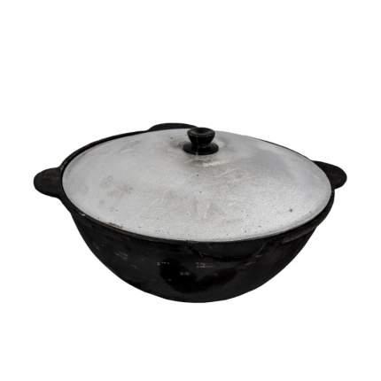 Казан чугунный узбекский 6 литров (плоское дно)